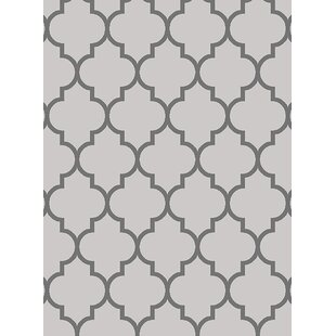 Looking for Cornett Trellis Wavy Lines Charcoal/Gray/Silver Area Rug By Mercer41