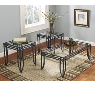 Jiles 3 Piece Coffee Table Set & Glass Coffee Table Sets Youu0027ll Love | Wayfair