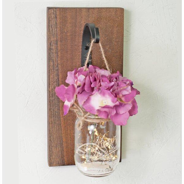 Inspirational Tin Mason Jar Wall Sign w// Charm Rustic Country Kitchen Home Decor