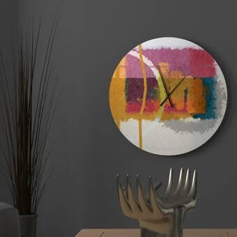 Latitude Run Beauteous Interesting Abstract Metal Wall Clock Wayfair