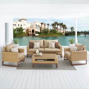 Addison 4 Piece Sunbrella Sofa Set with Cushions