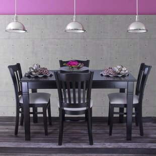 Gorney 5 Piece Solid Wood Dining Set by R..