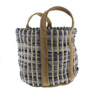 Woven Storage Denim Picnic Tote Bag