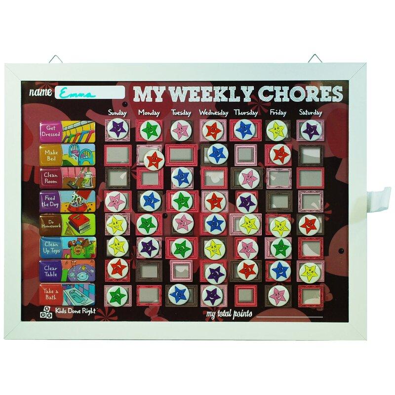 kids done right elephant chore calendar accessories reviews wayfair