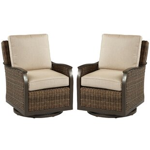 Bedard Swivel Glider Chair with Cushions (Set of 2)