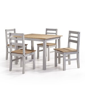 Robin Solid Wood 5 Piece Dining Set by Gracie Oaks
