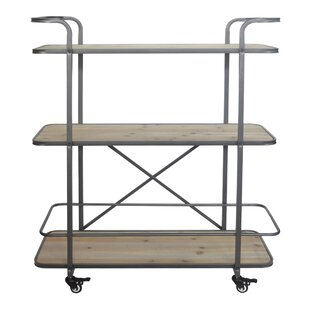 17 Stories Micheala 3 Tier Wood Shelf Bar Cart