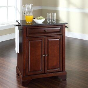 Abbate Kitchen Cart with Granite Top