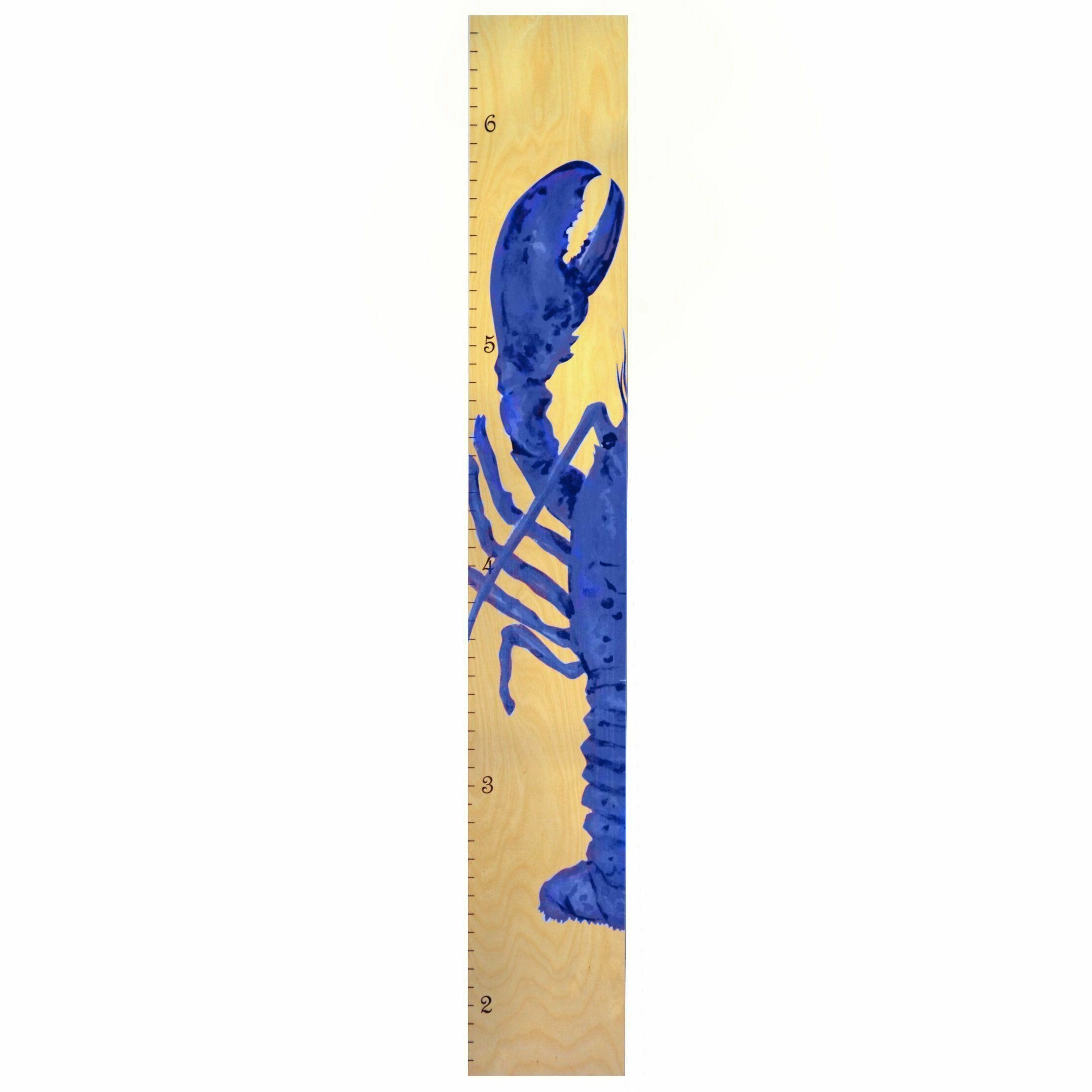 Harriet Bee Ajani Lobster Personalized Growth Chart Wayfair