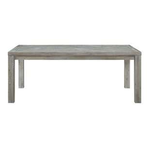 Vikenti Solid Wood Dining Table Bungalow Rose
