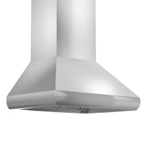 Remote Blower 400 CFM Ducted Wall Mount Wood Range Hood