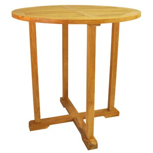 Farnam Teak Bar Table by Rosecliff Heights Spacial Price