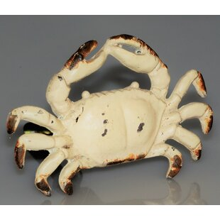 Handpainted Art Deco Crab Novelty Knob (Set of 4)