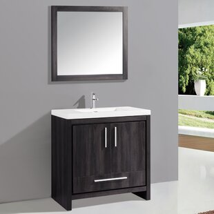 Great Price Peiffer 36 Single Sink Bathroom Vanity Set with Mirror By Orren Ellis