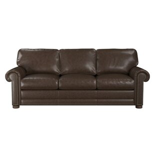 Price Check Odessa Leather Sofa by Westland and Birch Reviews (2019) & Buyer's Guide