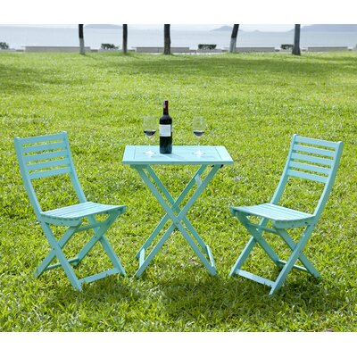 3 Piece Bistro Set Finish: Mint by HRH Designs