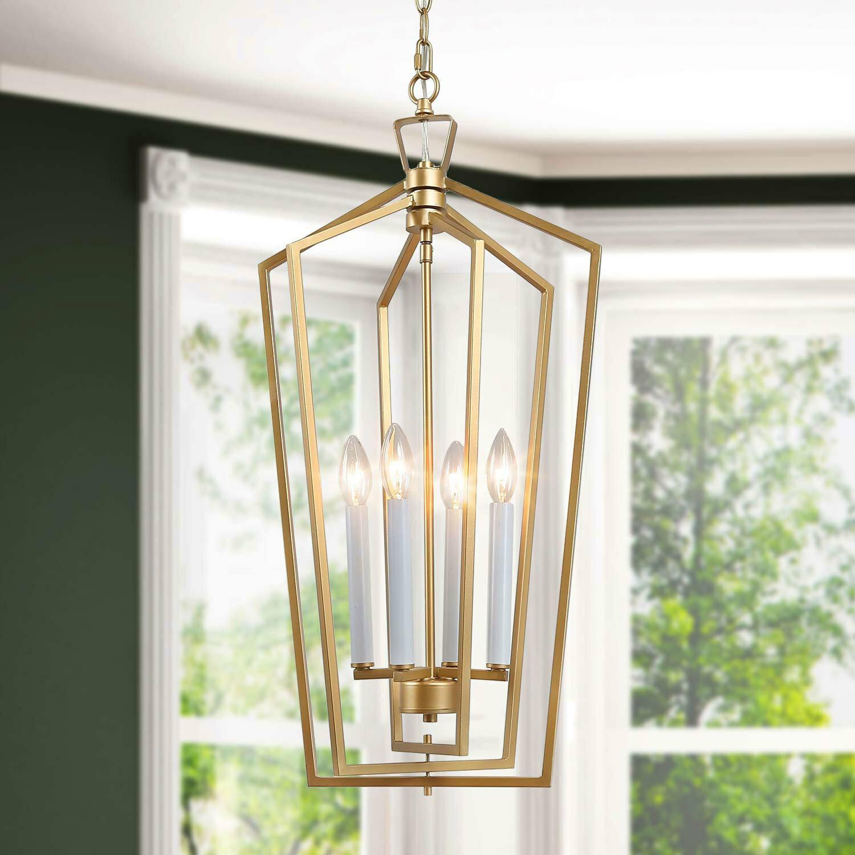 Everly Quinn Crotty 4 Light Lantern Geometric Pendant Wayfair