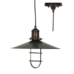 Chesterfield 1-Light Cone Pendant by Williston Forge