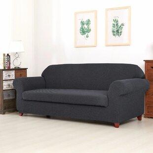 Raised Dots Box Cushion Loveseat Slipcover