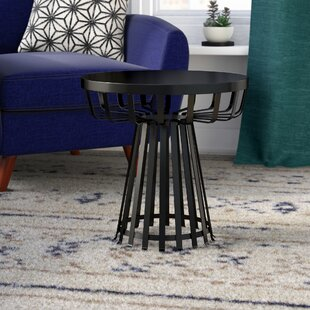 Derosa Metal Iron Base Flat Side Table