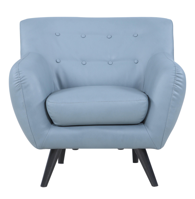 Madison Home USA Mid Century Modern Tufted Bonded Leather Armchair U0026  Reviews | Wayfair