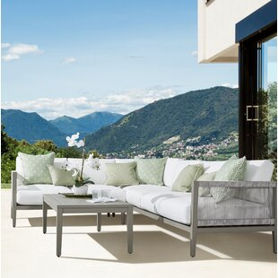 Rhiannon Patio Sectional with Cushions by South Sea Rattan