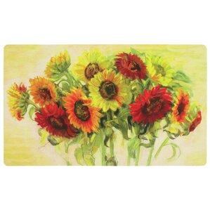 Celestiel Gathering Sunflowers Kitchen Mat