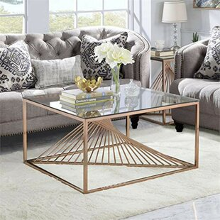 Sizer Metal Framed Coffee Table by Orren Ellis