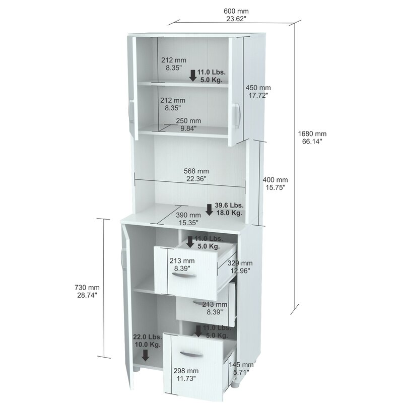 Zipcode Design Hyland 66 Kitchen Pantry Reviews