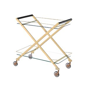 Bertram Modern Metal Bar Cart by Everl..