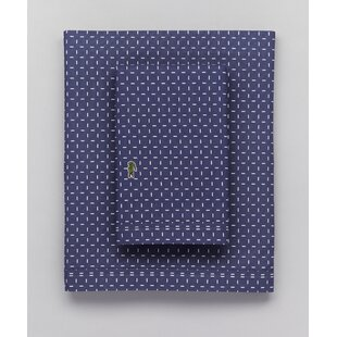 Dash Percale Printed 100% Cotton Sheet Set by Lacoste Best Design