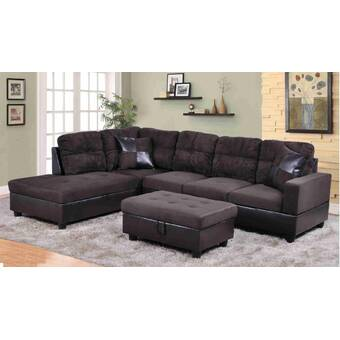 Latitude Run Abhir 103 5 Wide Modular Corner Sectional With Ottoman Reviews Wayfair