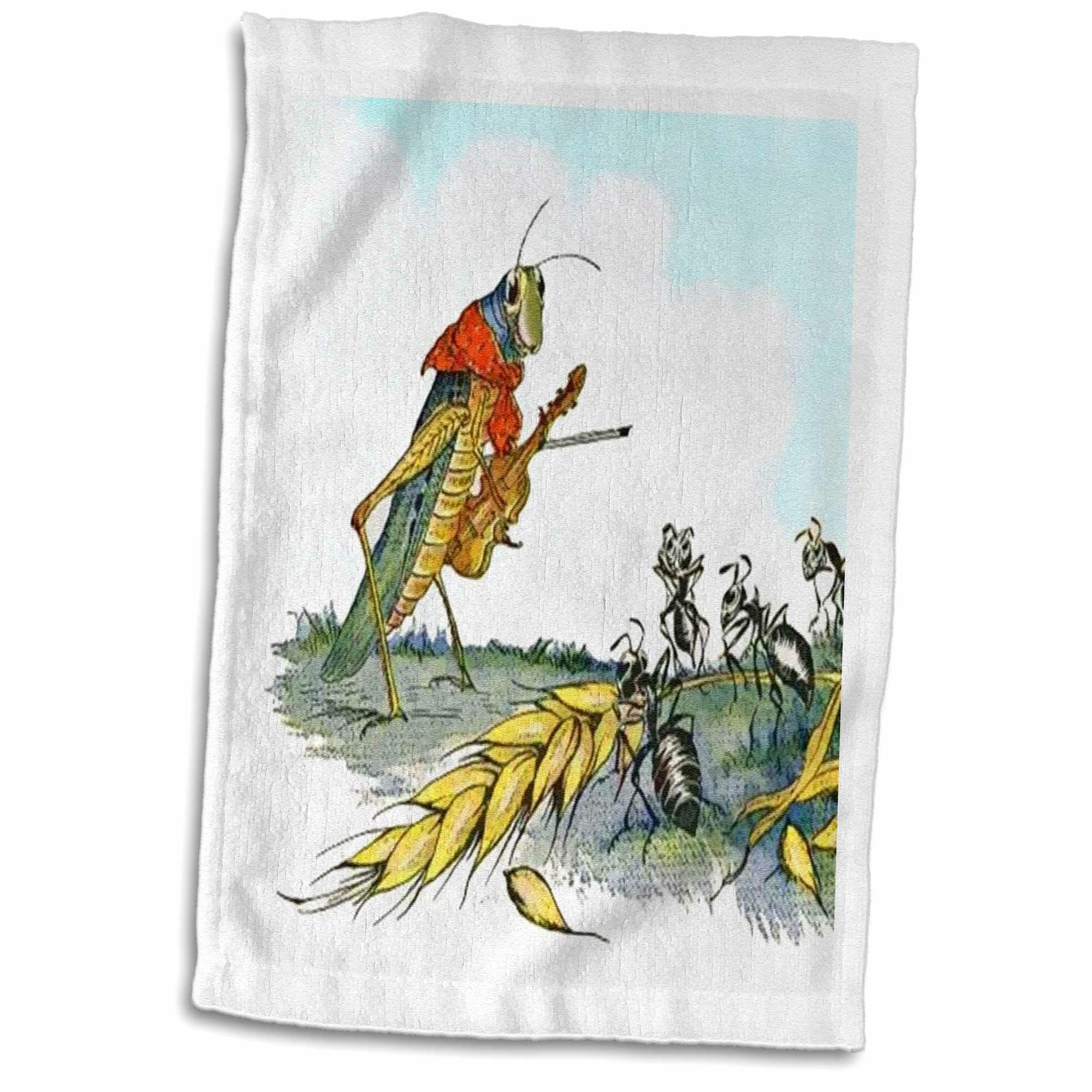 Symple Stuff Malakai Ant And The Grasshopper Hand Towel Wayfair