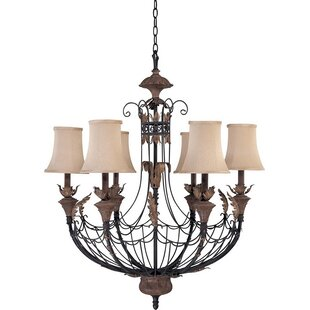 Boehm 6-Light Shaded Chandelier by Astoria Grand