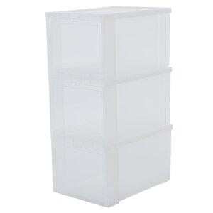 3-tlg. Aufbewahrungsbox aus Kunststoff von IRIS