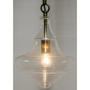 1-Light LED Schoolhouse Pendant by Noir