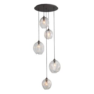Hegewisch 5-Light Cluster Pendant by Brayden Studio