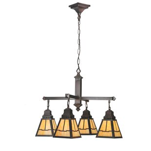 Meyda Tiffany Valley view Mission 4-Light Shaded Chandelier
