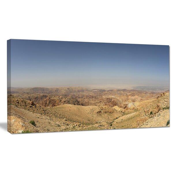 Designart Panorama Desert Hills Jordan Photographic Print On Wrapped Canvas Wayfair