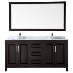 Daria 72 Double Bathroom Vanity Set with Mirror
