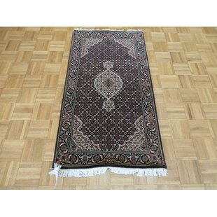 Read Reviews One-of-a-Kind Beaton Hand-Knotted Wool Black Area Rug By Isabelline