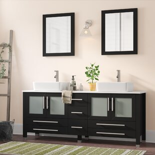 Govea 71 inch  Double Bathroom Vanity Set with Mirror