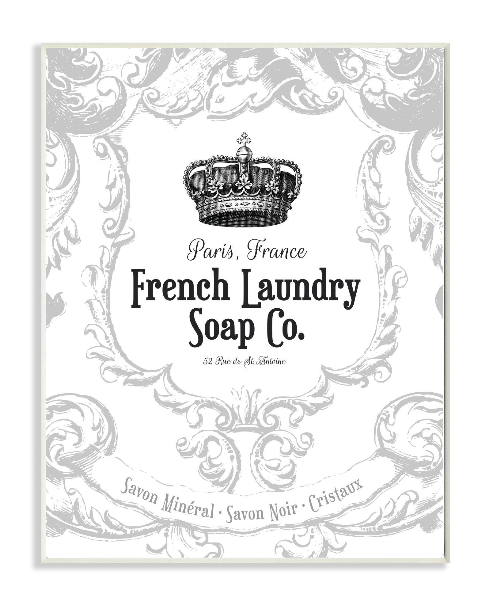 Laundry Wall Plaque Mesmerizing Stupell Industries French Laundry Soap Co Crown Graphic Wall Inspiration Design