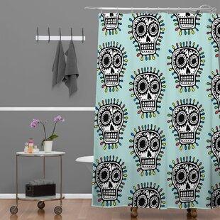 Andi Bird Sugar Skull Fun Shower Curtain