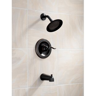 Windemere Pressure Balanced Tub and Shower Faucet Trim with Lever Handles and Monitor by Delta