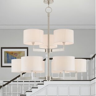 Zipcode Design Mai 9-Light Shaded Chandelier