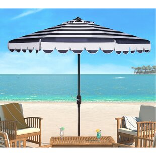 Lambeth Stripe 8.5' Drape Umbrella by Beachcrest Home