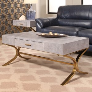 Canonbury Shagreen Leather Coffee Table by M..