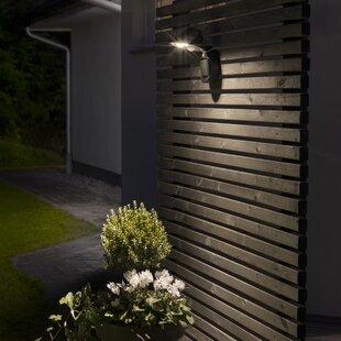 Prato 3-Light LED Outdoor Bulkhead Light With PIR Sensor By Konstsmide