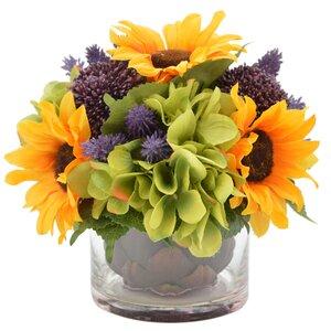 Sunflower Harvest Floral Arrangement in Vase